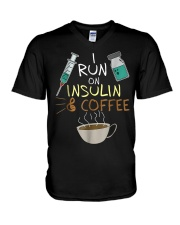 I run on Insulin and Coffee Cup S V-Neck T-Shirt thumbnail
