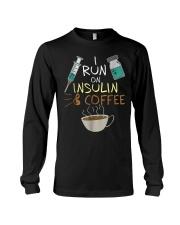 I run on Insulin and Coffee Cup S Long Sleeve Tee thumbnail