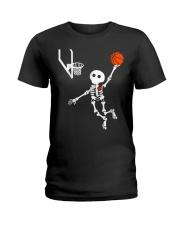 basketball skeleton hal t Ladies T-Shirt thumbnail