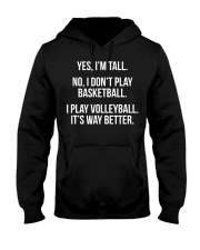 Tall people play volleyball funny graphic  Hooded Sweatshirt thumbnail