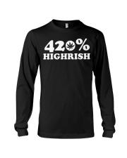 St Patricks Day Weed Shirt - 420 Highrish Long Sleeve Tee thumbnail
