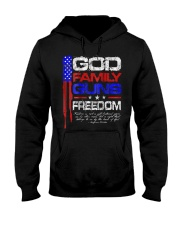 GOD FAMILY GUNS FREEDOM Conservative Ameri Hooded Sweatshirt thumbnail