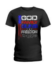 GOD FAMILY GUNS FREEDOM Conservative Ameri Ladies T-Shirt thumbnail