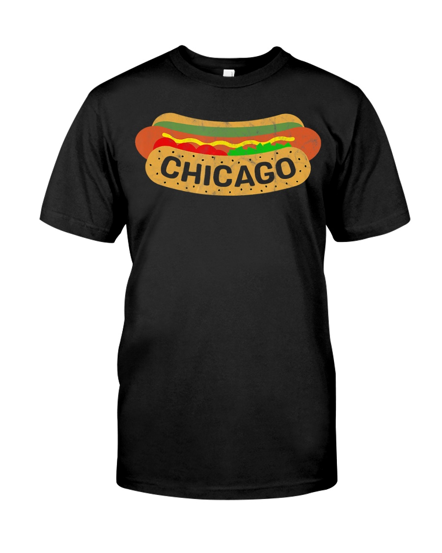 Chicago Hot Dog Lover T-Shirt Classic T-Shirt