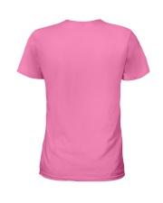 Football Easter Bunny Egg  Ladies T-Shirt back