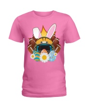 Football Easter Bunny Egg  Ladies T-Shirt front