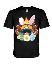 Football Easter Bunny Egg  V-Neck T-Shirt thumbnail