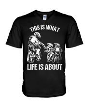 Dirt Bike Dad Motocross Motorcycle FMX B V-Neck T-Shirt thumbnail