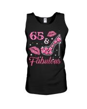 65  Fabulous T-shirt 65th Birthday t s Unisex Tank thumbnail