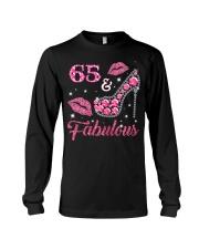 65  Fabulous T-shirt 65th Birthday t s Long Sleeve Tee thumbnail