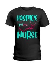 Cute Hospice nurse RN hospice stethoscope Ladies T-Shirt front