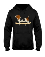 Funny Skateboarding Bassett Hound Dog T-Shi Hooded Sweatshirt thumbnail