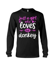 Donkey Lovers Who Love Their Donkey T-Shirt Long Sleeve Tee thumbnail