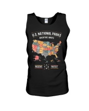 US National Parks Map Preserve Protect  Unisex Tank thumbnail