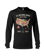 US National Parks Map Preserve Protect  Long Sleeve Tee thumbnail