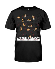 Piano Music Beagle T-Shirt Cute Dog Lov Premium Fit Mens Tee thumbnail