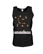 Piano Music Beagle T-Shirt Cute Dog Lov Unisex Tank thumbnail