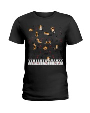 Piano Music Beagle T-Shirt Cute Dog Lov Ladies T-Shirt thumbnail