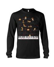 Piano Music Beagle T-Shirt Cute Dog Lov Long Sleeve Tee thumbnail