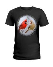 Red Cardinals TShirts for Backyard Bird W Ladies T-Shirt thumbnail