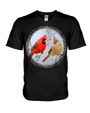 Red Cardinals TShirts for Backyard Bird W V-Neck T-Shirt thumbnail