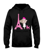 Cute French Paris Eiffel Tower Poodle T-Shirt Hooded Sweatshirt thumbnail