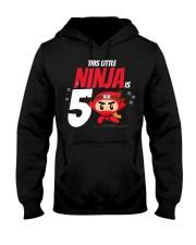 Kids 5th Birthday Boys Ninja Martial Art Hooded Sweatshirt thumbnail