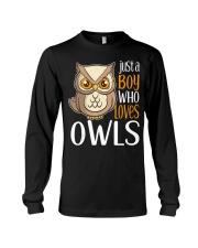 Just a Boy Who Loves Owls Cute Owl Gift  Long Sleeve Tee thumbnail