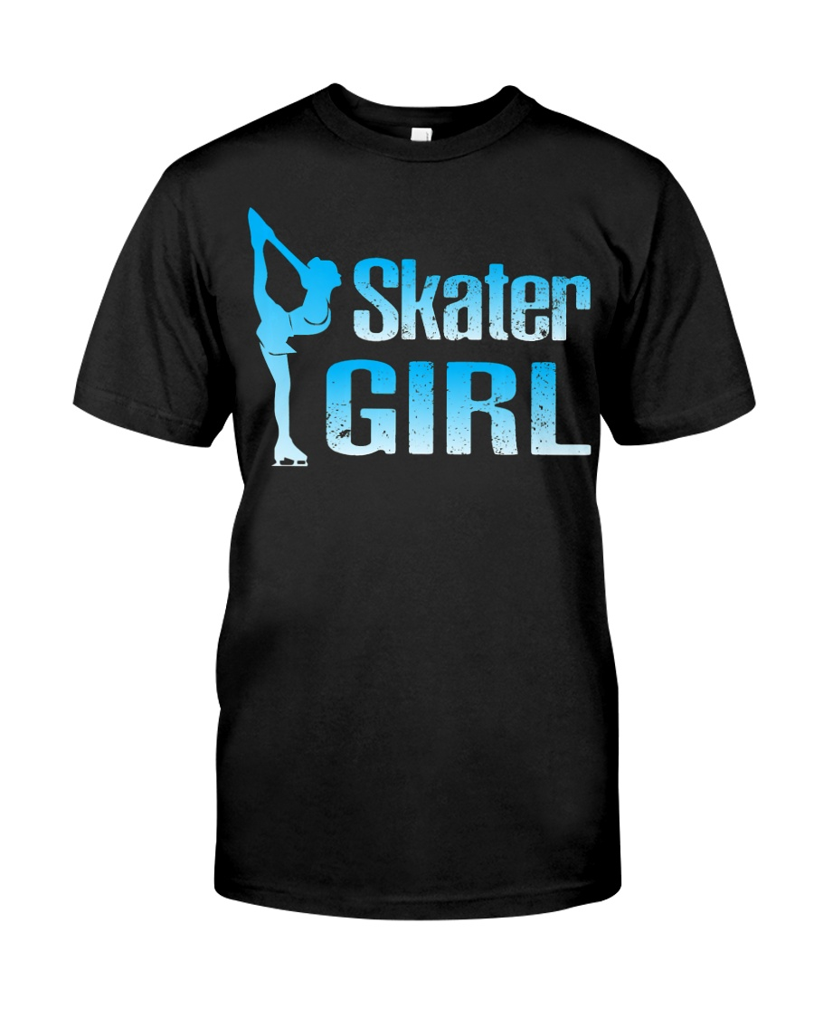 Cute Ice Skater Gift Tee -Figure Skating Gir Classic T-Shirt