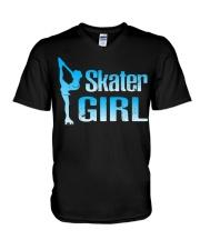 Cute Ice Skater Gift Tee -Figure Skating Gir V-Neck T-Shirt thumbnail
