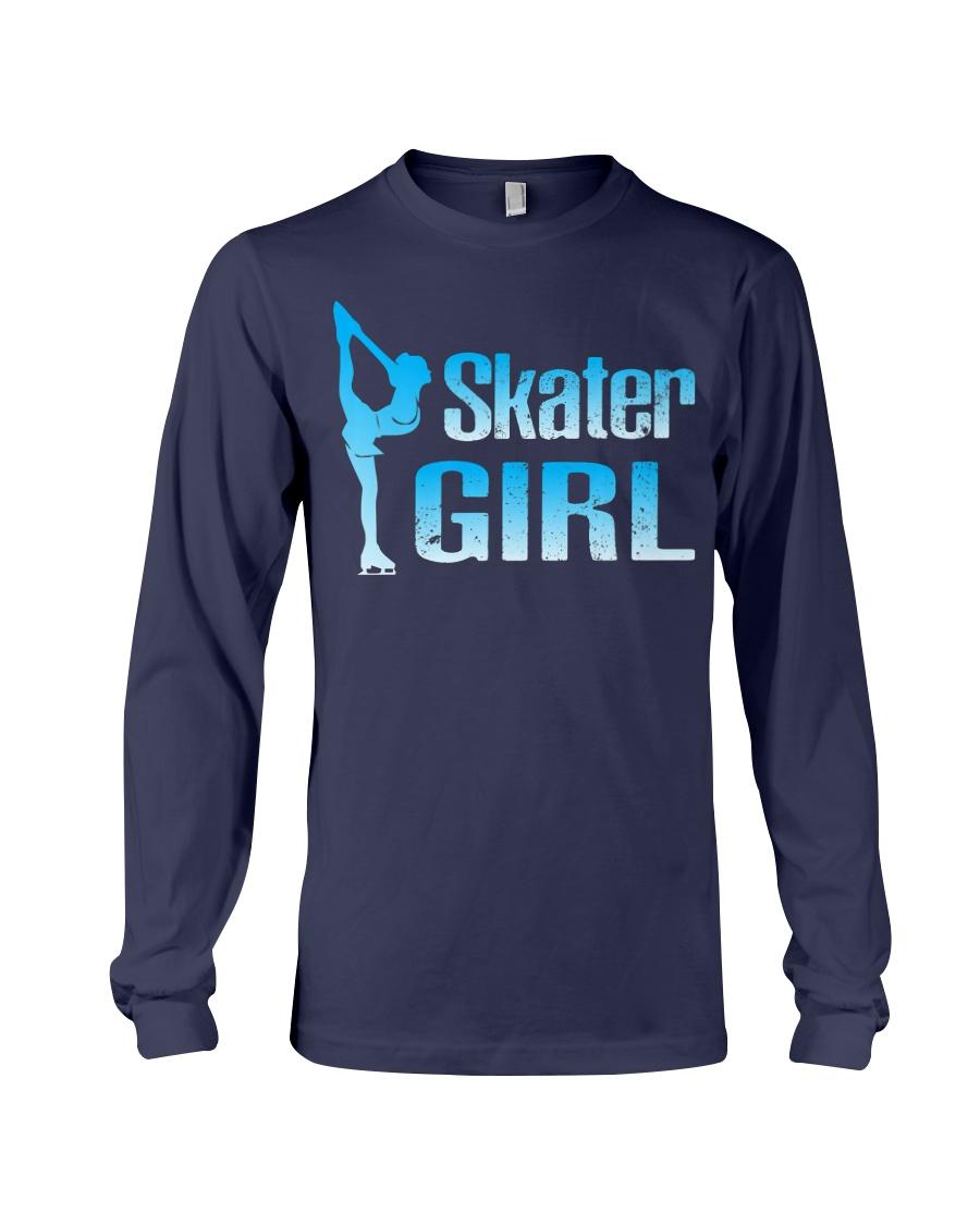 Cute Ice Skater Gift Tee -Figure Skating Gir Long Sleeve Tee