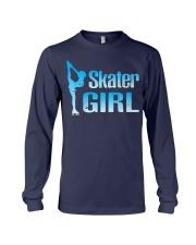 Cute Ice Skater Gift Tee -Figure Skating Gir Long Sleeve Tee front