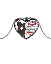 To My Braver Son Neckless Metallic Heart Necklace front