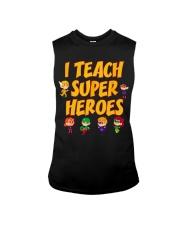 I Teach Superheroes Tshirt Cute Funny Teacher Gift Sleeveless Tee thumbnail