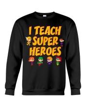 I Teach Superheroes Tshirt Cute Funny Teacher Gift Crewneck Sweatshirt thumbnail