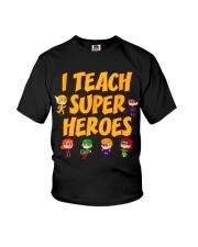 I Teach Superheroes Tshirt Cute Funny Teacher Gift Youth T-Shirt thumbnail