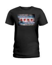 House Music Flag Ladies T-Shirt thumbnail