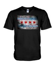 House Music Flag V-Neck T-Shirt thumbnail