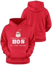 There's Some HOS In The House Hooded Sweatshirt apparel-hooded-sweatshirt-lifestyle-front-37