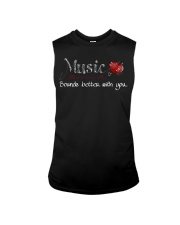 Music Sounds better with you Sleeveless Tee thumbnail