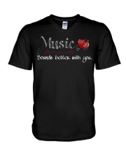 Music Sounds better with you V-Neck T-Shirt thumbnail