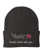 Music Sounds better with you Knit Beanie thumbnail