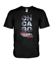 Chgo House Music V-Neck T-Shirt thumbnail