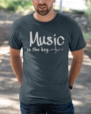 Music is the key Classic T-Shirt apparel-classic-tshirt-lifestyle-front-50