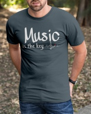 Music is the key Classic T-Shirt apparel-classic-tshirt-lifestyle-front-52
