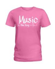 Music is the key Ladies T-Shirt thumbnail