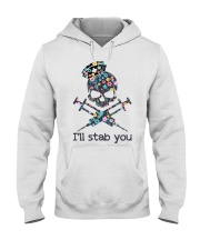I'll stab you Hooded Sweatshirt thumbnail