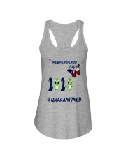 4 th july happy independence day  Ladies Flowy Tank front