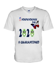 4 th july happy independence day  V-Neck T-Shirt thumbnail