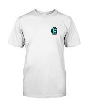 Cyan Among Us  Classic T-Shirt front